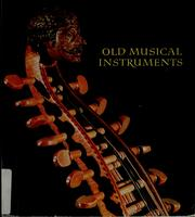 Cover of: Old musical instruments