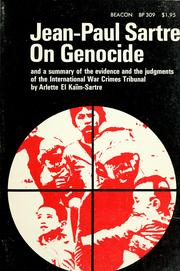 Cover of: On genocide