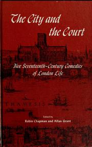Cover of: The city and the court | Chapman, Robin