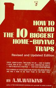 Cover of: How to avoid the ten biggest home-buying traps