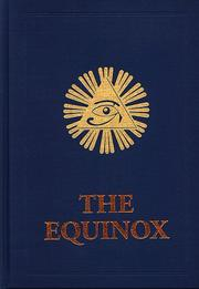 Cover of: The Equinox Volume 3 Number 1 | Aleister Crowley