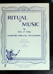 Cover of: Ritual of music | Doris H. Cooley