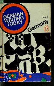 Cover of: German writing today