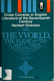 Cover of: Cross currents in English literature of the Seventeenth Century