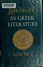 Cover of: Landmarks in Greek literature