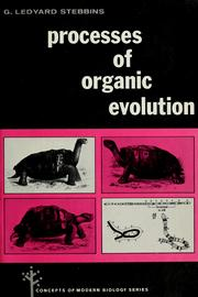 Cover of: Processes of organic evolution