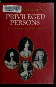 Privileged persons by Hester W. Chapman