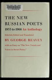 Cover of: The new Russian poets, 1953-1966