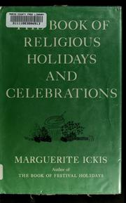 Cover of: The book of religious holidays and celebrations