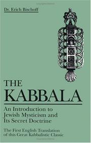 Cover of: The Kabbala