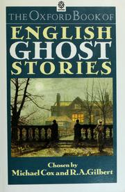 Cover of: The Oxford book of English ghost stories | Michael Cox, R. A. Gilbert