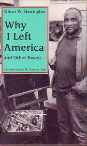 Cover of: Why I Left America | Oliver W. Harrington