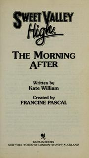 Cover of: The morning after | Francine Pascal