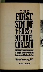 Cover of: The First Sin of Ross Micheal Carlson | Michael Weissberg