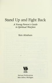 Stand up and fight back by Ken Abraham
