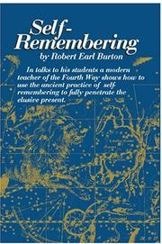 Cover of: Self-remembering | Robert Earl Burton