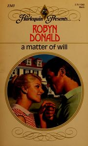 Cover of: Matter Of Will | Donald
