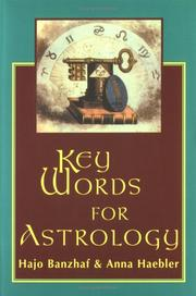 Cover of: Key words for astrology