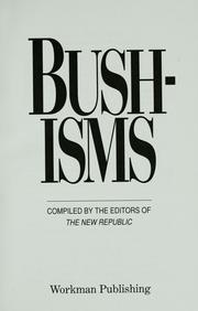 Cover of: Bushisms |