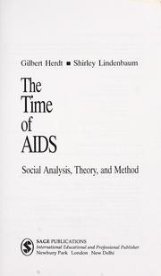 Cover of: The time of AIDS |