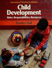 Cover of: Child development |