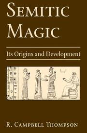Semitic magic by Reginald Campbell Thompson