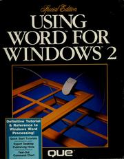 Cover of: Using Word for Windows 2 | Ron Person