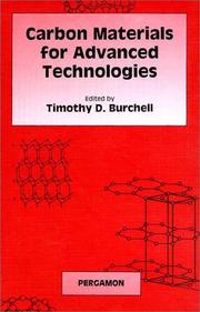 Cover of: Carbon materials for advanced technologies |