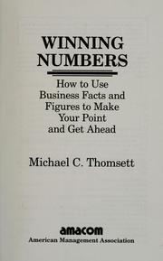 Cover of: Winning numbers | Michael C. Thomsett