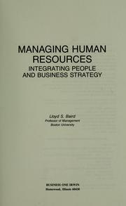 Cover of: Managing human resources | Lloyd Baird