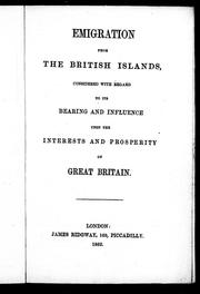 Emigration from the British islands by