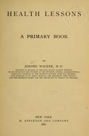 Cover of: Health lessons | Walker, Jerome