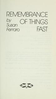 Cover of: Remembrance of things fast | Susan Ferraro