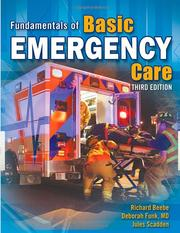 Cover of: Fundamentals of Basic Emergency Care | Richard W. O. Beebe