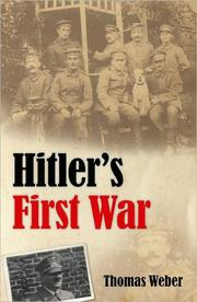 Cover of: Hitler's First War |