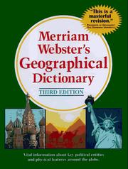 Cover of: Merriam-Webster's Geographical Dictionary, Third Edition | Merriam-Webster