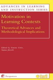Cover of: Motivation in learning contexts by