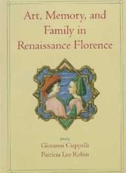 Cover of: Art, memory and family in Renaissance Florence