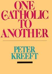 Cover of: One Catholic to Another