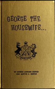 Cover of: George, the housewife