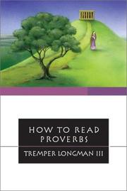 Cover of: How to Read Proverbs | Tremper Longman