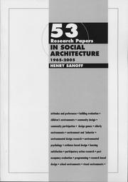 Cover of: 53 Research Papers in Social Architecture