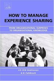 Cover of: How to Manage Experience Sharing |