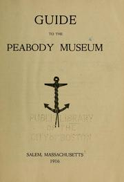 Guide to the Peabody museum