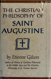 Introduction à l'étude de saint Augustin by Étienne Gilson