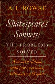 Cover of: Shakespeare's sonnets by William Shakespeare