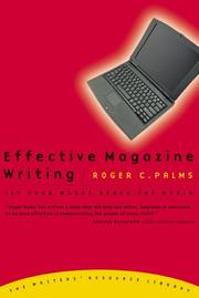 Cover of: Effective magazine writing | Roger C. Palms