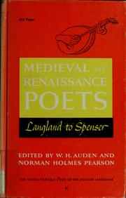Cover of: Poets of the English language by W. H. Auden
