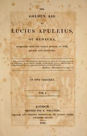 Cover of: The golden ass of Lucius Apuleius, of Medaura | Apuleius