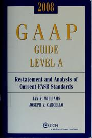 Cover of: 2008 GAAP guide Level A | Jan R. Williams